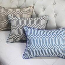 Модный дизайн Геометрическая декоративная подушка/almofadas Чехол 45 50 60 Для Взрослых Подростков, нордическая простая подушка крышка для украшения дома
