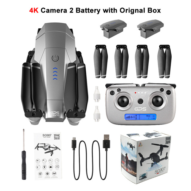 Sg907 Gps Drone With Camera 4k 5g Wifi Rc Quadcopter Optical Flow Foldable Mini Dron 1080p Hd Camera Drone Vs E520s E58 Xs816