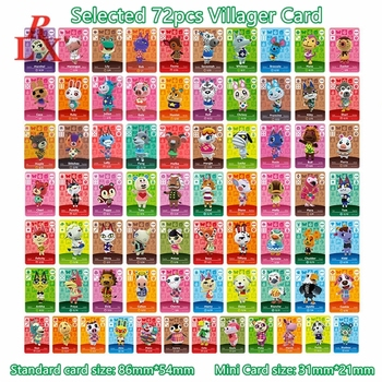 Selected 72pcs Animal Crossing ACNH New Leaf Popularity Villagers Mini Cards NFC Game Tags NS Switch WiiU Games Size 31mm*21mm series 4 301 to 350 animal crossing card amiibo cards work for switch ns 3ds games card animal crossing amiibo card new leaf