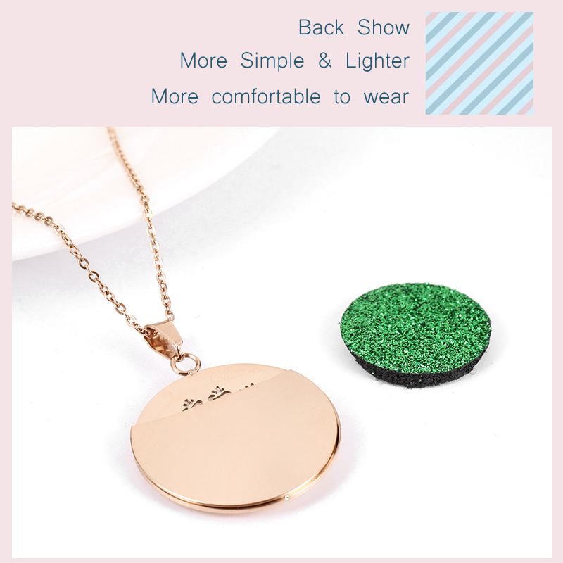 Aromatherapy Essential Oil Diffuser Locket Necklace (103-7)