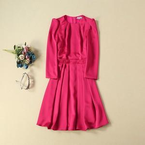 Image 2 - Princess Kate Middleton Dress 2020 Woman Dress O Neck Wrist Sleeve Elegant Dresses Work Wear Clothes NP0785J