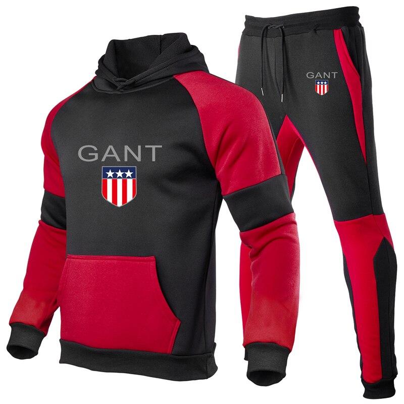 Männer casual nähen sportswear polar fleece hoodies und hosen herbst und winter lauf sportswear tops und bottoms sweats