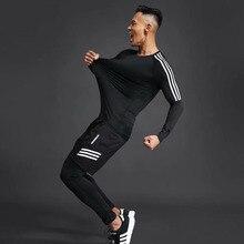2015 camisetas de futbol survetement soccer jerseys Men Running Quick Dry T-shirt Polyester Compression Sport Soccer Jersey Fitness Camisetas De Futbol Clothes Gym Shirt Sportswear