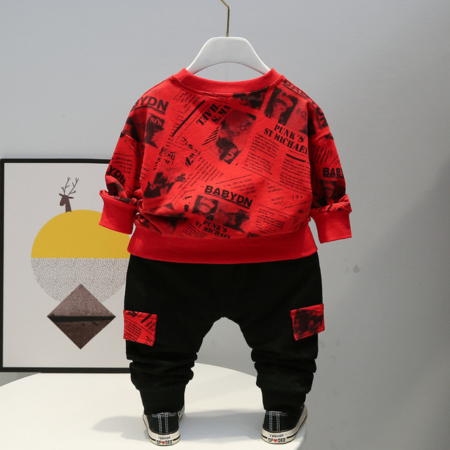 Baby Winter Autumn Clothes Sets Toddler Letter Outfits Children Boy Girl Sport Suit Kids 1 2 3 4 years Fall Clothing Wear 4