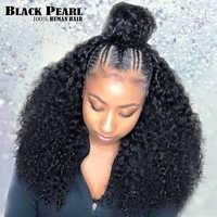 Jerry-pelucas de cabello humano rizado con malla frontal para mujer, cabello brasileño Remy, Bob pelucas de pelo corto rizado, peluca prearrancada