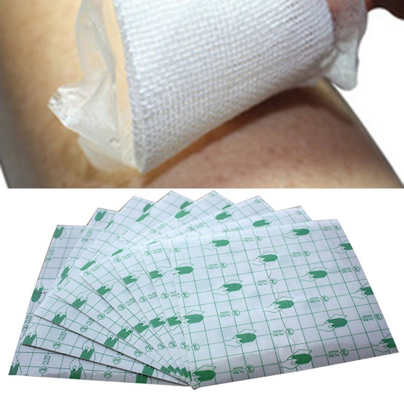 50 Pcs/lot Transparent Tape PU Film Adhesive Plaster Waterproof Anti-allergic Medicinal Wound Dressing Fixation Tape