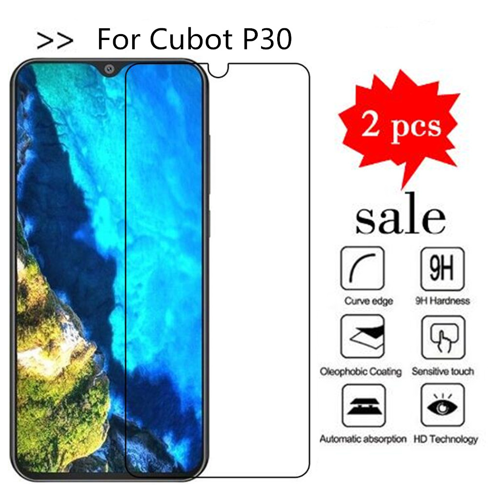 Tempered Glass For Cubot P30 Screen Protector Premiun Phone Protection Film Case For Cubot P30 Tempered Glass(China)