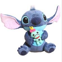 Nowy Disney Kawaii Stitch pluszowa lalka zabawka Anime Lilo i Stich wypchana lalka śliczne Stich pluszowa lalka dzieci urodziny prezent zabawka dla dzieci tanie tanio Plush CN (pochodzenie) do not swallow Pp bawełna 5-7 lat 2-4 lat 8-11 lat size Unisex Film i telewizja 02369