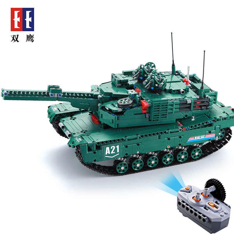 M1A2 1498 個 legoing テクニック RC タンクモータ電源機能 MOC ビルディングブロックレンガ軍事戦争 DIY 技術者のおもちゃ男の子