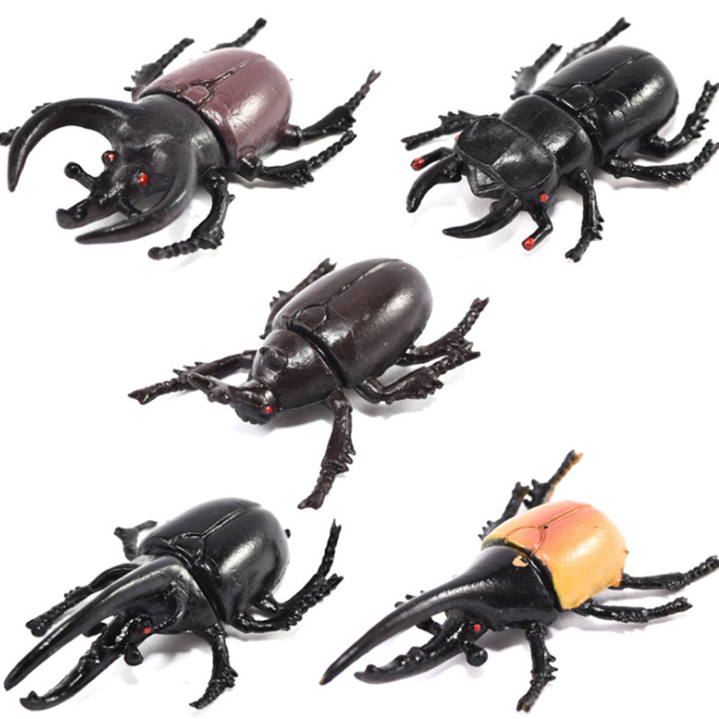 6 pcs/set Beetle Figure Collectible Toys Simulation Insect Animal Action Figures Kids Toy