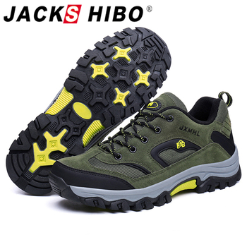 Jackshibo Hiking Upstream Shoes Boots For Men Outdoor Mountain Climbing Sports Sneakers Trekking Tourism Boots Camping Shoes gomnear hiking shoes women outdoor trekking non slip breathable damping sneakers tourism mountanineering climbing trend boots