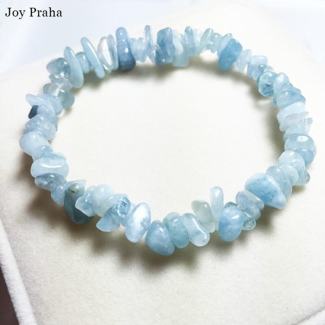 Natural aquamarine bracelet anklet / Gravel bracelets transport crystal women jewelry / wholesale dropshipping 1