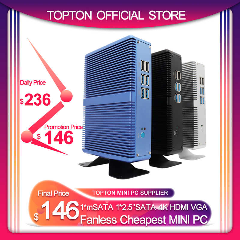 คลีฟแลนด์Fanless Mini PC Intel I5 7200U I3 7100U DDR4 DDR3 Nucคอมพิวเตอร์Linux Windows 10 Pro 1 * MSATA 1*2.5 ''SATA 4K HTPC HDMI VGA
