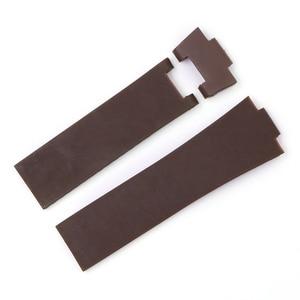 Image 3 - Rolamy sangle de rechange étanche en caoutchouc Silicone, noir marron bleu, 22*10mm/25*12mm, bracelet de montre pour Ulysse Nardin