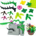 Kompatibel Pflanzen Gebäude Block Baum Blatt Blume MOC Teile DIY Spielzeug Stadt Creator Ziegel 30176 3741 32607 Für Kinder Geschenk