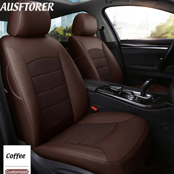 AUSFTORER Genuine Leather Seats Cover for Lexus UX 250h 260h Car Seat Covers 2019 Custom Fit Auto Cushions Supports Accessories