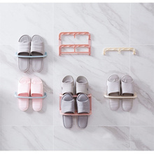 3pc/set Japan Style Wall Hanger Shoes Rack Folding Shoes Storage Shelf Home Slippers Organizer Bathroom Bath Slippers Holder