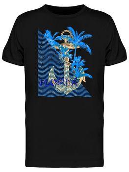 Florida Summer Anchor Men's T-Shirt Cotton O-Neck Short Sleeve Men's T Shirt New Size S-3XL finger pop art t shirt cotton o neck short sleeve men s t shirt new size s 3xl