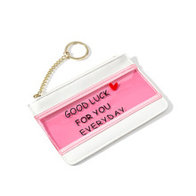 лучшая цена Women Wallet Stylish And Transparent Zipper Money Wallets Jelly Skin Coin Card Package Lady Purse PVC Holder Clutch