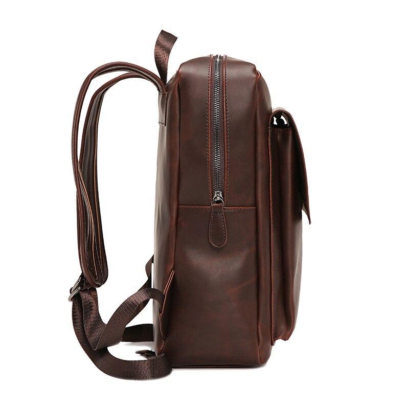 JIULIN черные рюкзаки рюкзак на молнии маленькие мужские модные однотонные ПУ мужские сумки для Mara's Dream - 2