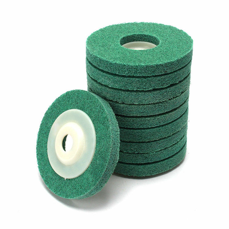 Lot OF 5Pc 4 Inch Nylon Fiber Polishing Buffing Wheel Pad Disc For Angle Grinder