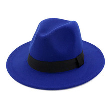 fashion cowboy hat vintage classic felt fedoras hats large brim cloche panama tr