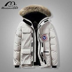 MAIDANGDI 2020 Winter Neue Unten Jacken Für Männer Teenager Mode Casual Winddicht Warme Mäntel Männlichen Plus Größe Kapuze Sport