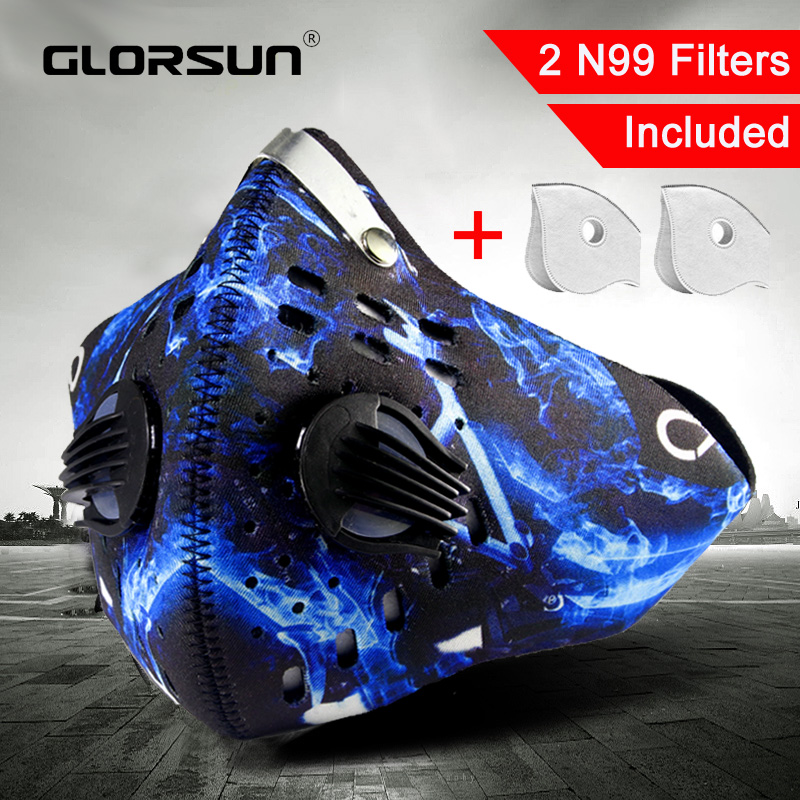 GLORSUN High Quality N95 Pm2.5 Dust Respirator Mouth Face Mask Wholesale N95 Smog Air Pollution Washable Smog Sport Mask