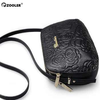 Classic! ZOOLER Shoulder Cow leather bag Luxury Handbags Women Bags Floral Pattern Bag Ladies 2019 Fashion Bolsa Feminina #2355 - DISCOUNT ITEM  52% OFF All Category