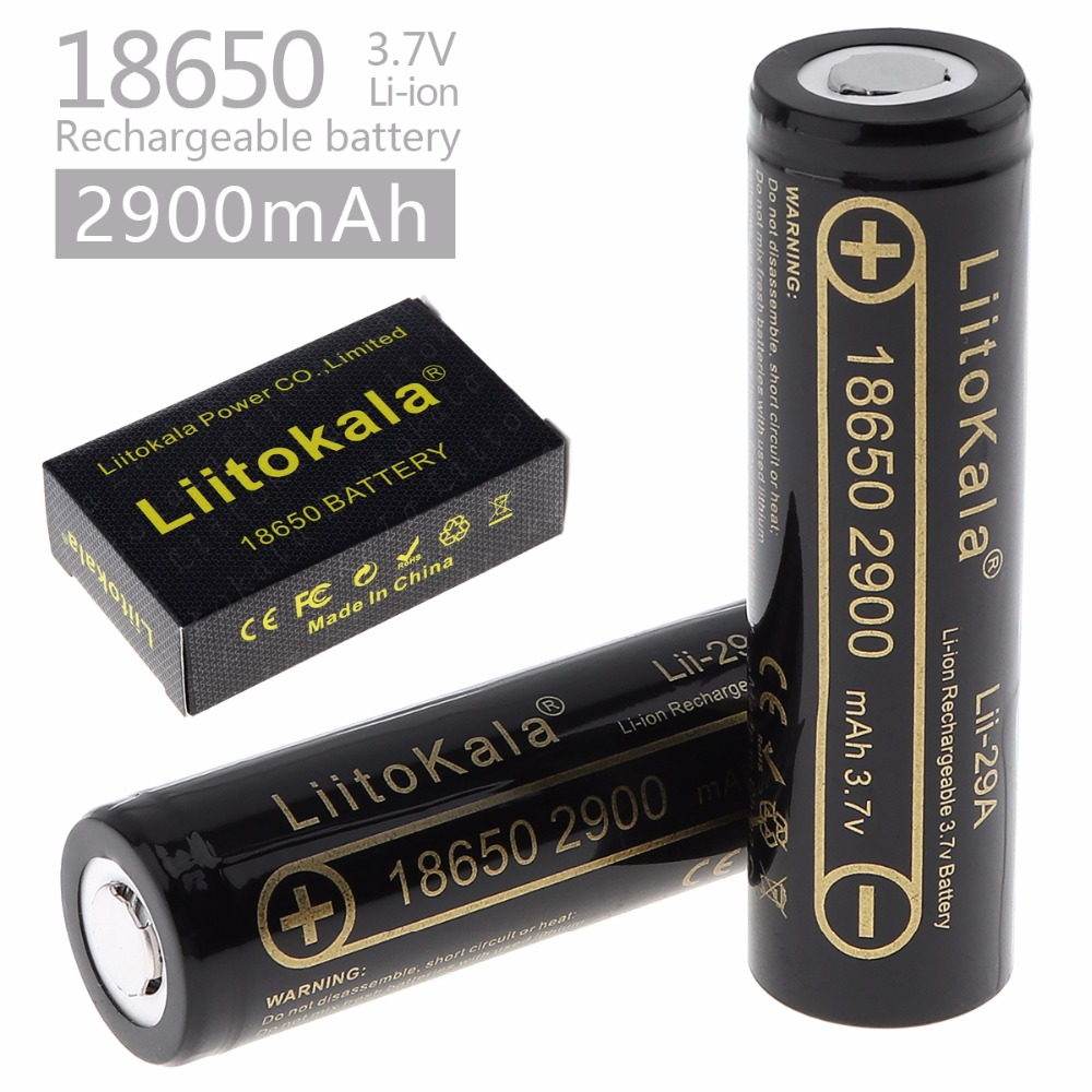 LiitoKala Lii-29A 18650 2900mah 3000mah High Power Discharge Rechargeable Battery Power High Discharge,30A Large Current