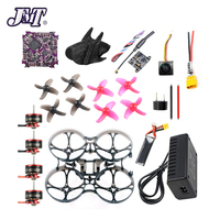 JMT 75MM Wheelbase 2S FPV Racing Drone w/ Play F4 BWHOOP Flight Controller FE200T VTX SE0802 16000kv Motor 350mAh 50C Battery