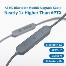 Kz aptx hd csr8675 mmcx fone de ouvido para bluetooth 5.0 cabo de atualização sem fio aplicativo-se as10zstzsnprozs10pro/as16/