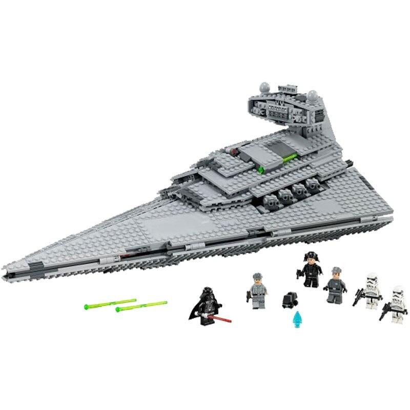 Em estoque 05027 star wars imperador lutadores estrela navio móvel bloco de construção 3250 peças tijolo compatível 10030 natal presente das crianças
