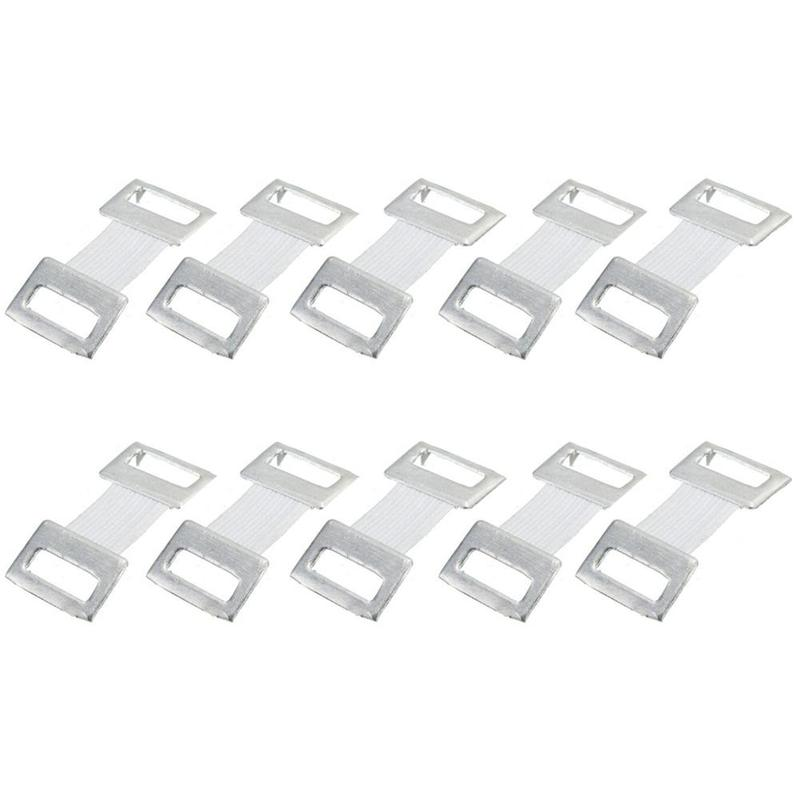10PC / Bag Replacement Elastic Bandage Stretch Wrap Metal Clips Fastening Clips Hooks Coffee White Colors