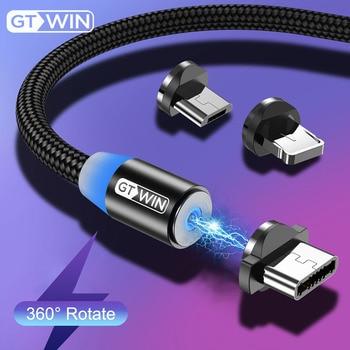 GTWIN 1m 2m 3m câble magnétique Micro USB Type C Charge rapide Microusb type-c USB C de Charge magnétique pour iphone 11 X Xr USB C able