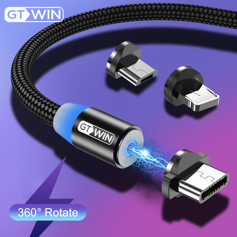 GTWIN 3m Magnetic Micro Type C USB Cable Fast Charging Charge Data For iPhone Redmi note 7
