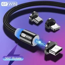 GTWIN 2 m 3 m Kabel magnetyczny Micro Type C USB Adapter szybkiego ładowania Ładowarka Ładunek magnetyczny Dla iPhone #8217 a 11 pro max Xr X 8 7 6 plus 6s 5 s plus iPad Samsung S9 S8 Note 7 mi9 Xiaomi Huawei P30 P20 Mate 20 tanie tanio Typu C Micro Usb 2 4A Nylon Magnetyczne 1M 2M 3M Type-C Cable For Samsung Galaxy Note 9 S10 S9 S8 Plus Huawei P20 Lite Micro USB Cable For Samsung Galaxy S7 edge S6 S5 Xiaomi Redmi 4X