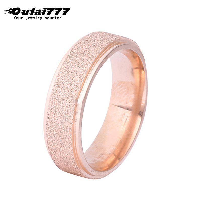oulai 777 stainless steel wholesale boho Couple ring womans wedding accessories Gypsophila Rose gold mens rings men woman