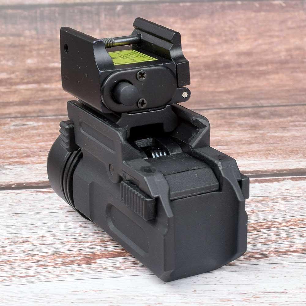 Red Dot Laser Sight Tactical Picatinny Weaver Rail Mount 20mm Pistol Gun Compact  Torch Light LED Rifle Glock Gun Flash Light-1