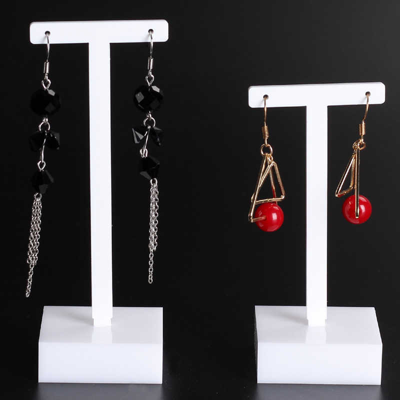Set of 3pcs Black Detachable Acrylic Earrings Holder Display Stands Rack