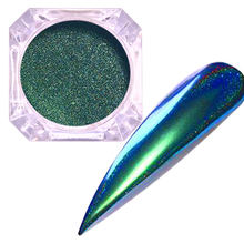 Nail Peacock Powder Mirror Glitter Color Art Decoration Gel Pigment