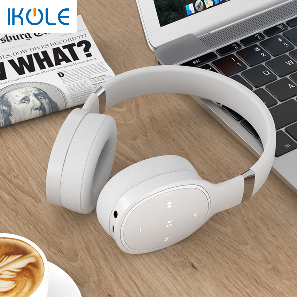 IKOLE Bluetooth 5.0 Wireless Over the Ear Headset Deep Bass Hi-Fi Stereo Sound with rubber, Comfortable to Wearing Headphone 3