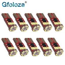 Gfoloza 10 pces w5w led 168 194 t10 4014 15-smd lâmpadas para o interior do carro luzes tronco/porta/lado marcador lâmpada canbus branco 6500 k 12 v