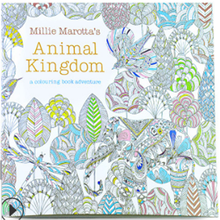 Coloring-Book Adult Stationery for Children Relieve-Stress Drawing New 24-Pages Animal-Kingdom