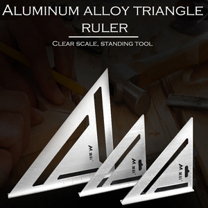 30cm Silver Aluminum Alloy Speed Square Roofing Angle Protractor Try Square Carpenter's Measuring Layout Tool
