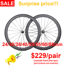 Carbon-Wheels Bicycle Tubular Road-Bike Deep-Clincher 700C Ultra-Light 24/30/35-/..