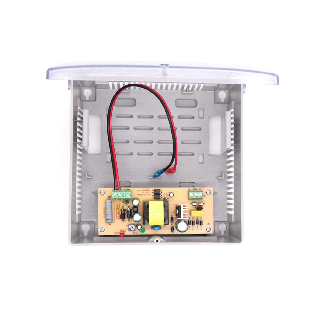 12V 2A Plastic Boxed Power Supply With Backup UPS Battery (7AH) For CCTV Camera