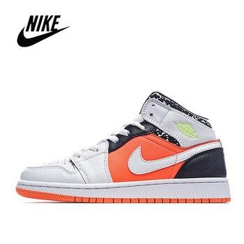 Фото - Nike Air Jordan 1 Retro Mid GS Basketball Shoes Men's Basketball Sneakers Unisex Women Breathable Air Jordan 1 Low Travis Scott кроссовки air jordan 11 retro low