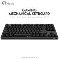 Original AKKO 3087 Game Mechanical Keyboard Cherry Switch Side Carved Letter Type C USB Wired Computer Gamer