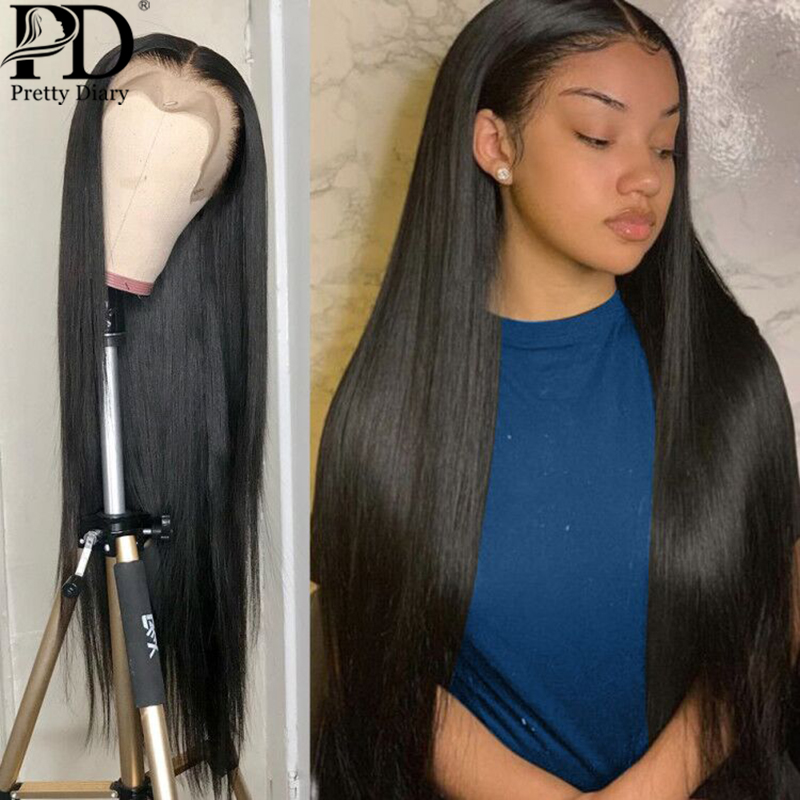 26 28 30 40 frente do laço perucas de cabelo humano em linha reta do laço frontal perucas remy cabelo brasileiro 180% longo 360 reta peruca dianteira do laço